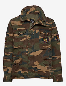 PATCHED FIELD JACKET - vindjakker - camo