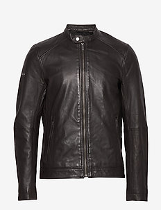 Light Leather Racer - lederjacken - dark brown