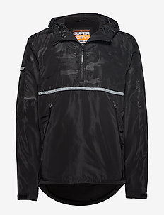 BASS CORE OVERHEAD CAGOULE - anoraks - black