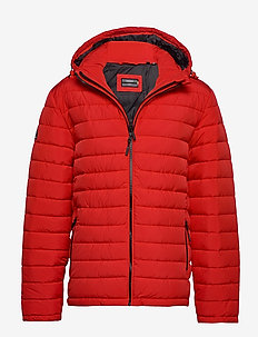 HOODED FUJI JACKET - padded jackets - high risk red