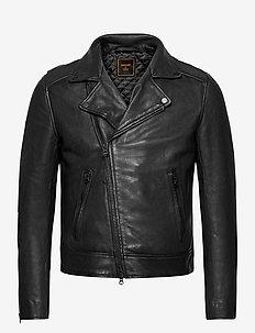 Leather Biker - leather jackets - black