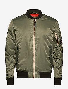 Nylon Flight Bomber - bomber jakke - fatigue green
