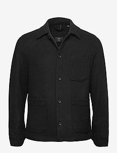 UTL Wool Over Shirt - tops - black