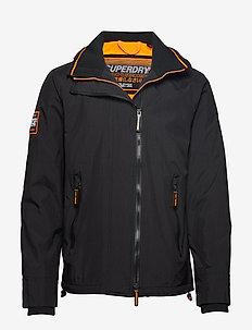 HOODED ARCTIC POP ZIP SD-WINDCHEATER - kurtki-wiosenne - black/fluro orange