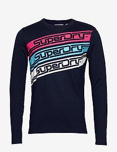 DOWNHILL RACER LS TEE - langermede t-skjorter - buck blue marl black twist grit