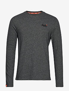 ORANGE LABEL TWILL TEXTRE LS TOP - BASALT GREY TWILL