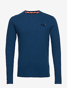 ORANGE LABEL VINTAGE EMBROIDERY LS TOP - KETION BLUE MARL FEEDER