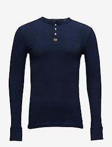 HERITAGE L/S GRANDAD - langermede t-skjorter - ink grit