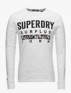 SURPLUS GOODS L/S GRAPHIC TEE - langermede t-skjorter - optic/black