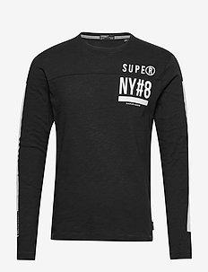 SURPLUS GOODS LS TOP - BLACK SLUB