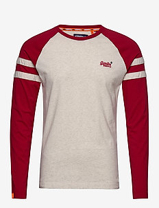 OL SOFTBALL RINGER LS TOP - MCQUEEN MARL
