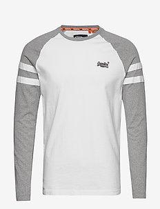 OL SOFTBALL RINGER LS TOP - logo t-shirts - optic