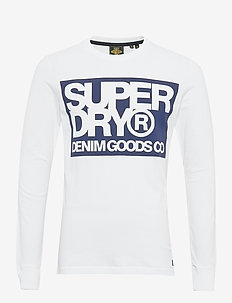 DENIM GOODS CO PRINT LS TEE - langermede t-skjorter - optic