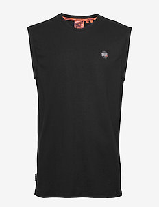 COLLECTIVE OVERSIZED VEST - basis-t-skjorter - black