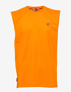COLLECTIVE OVERSIZED VEST - basic t-shirts - vivid marigold