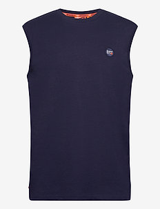COLLECTIVE OVERSIZED VEST - tops - rich navy