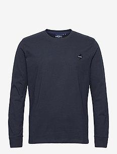 Sportstyle Ls Top - basis-t-skjorter - deep navy