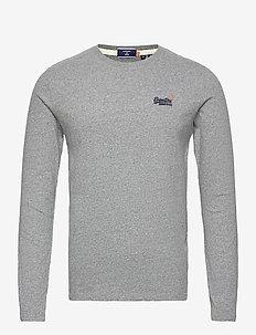 OL VINTAGE EMB LS TOP NS - basic t-shirts - grey marl