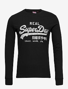 Vl Infill Ls Top - long-sleeved t-shirts - black