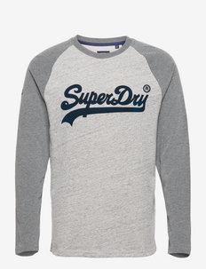 VL AC RAGLAN L/S TOP - långärmade t-shirts - athletic grey marl
