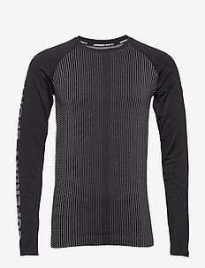 SPORTS ATHLETIC RAGLAN LS TEE - longsleeved tops - black/grey grit
