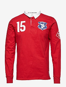 VALIANT RUGBY - long-sleeved - blood red