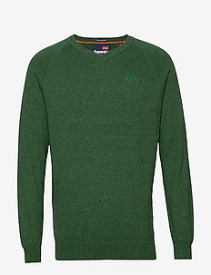 ORANGE LABEL COTTON VEE - basic knitwear - bright midwest green grit