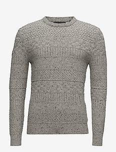 SKOLM CREW - perusneuleet - flannel tweed