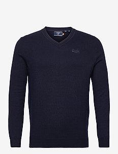 ORANGE LABEL VEE - basic knitwear - carbon navy marl