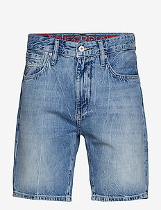 CONOR TAPER SHORT - jeans shorts - samson blue