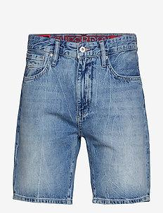 CONOR TAPER SHORT - denim shorts - samson blue