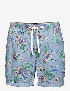 SUNSCORCHED CHINO SHORT - chinos shorts - chambray hawaiian
