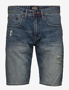 OFFICER SLIM SHORT - jeans shorts - quarry used
