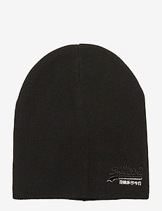 ORANGE LABEL BEANIE - BLACK