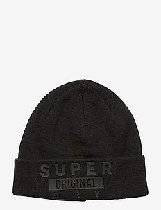 SUPER LOGO BEANIE - BLACK