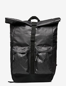 ROLL TOP TARP BACKPACK - backpacks - black