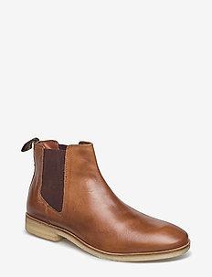 METEORA CHELSEA CREPE BOOT - nilkkurit - tan leather