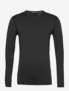 PERFORMANCE FLOCK COMPRESSION LS TEE - t-shirts basiques - black