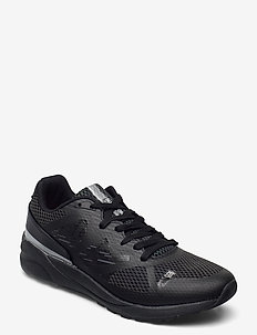 ACTIVE SPORT LOW TRAINERS - low tops - reflective mesh black