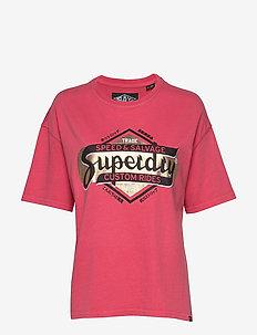 MERCH STORE BAND BOX FIT TEE - t-shirts - sugar coral