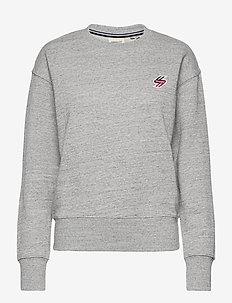 SPORTSTYLE CREW - sweatshirts - grey slub grindle