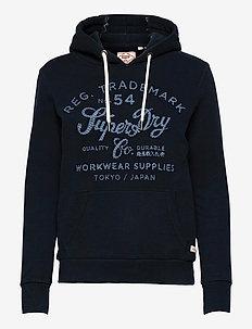 CRAFTED WORKWEAR HOOD - hoodies - eclipse navy