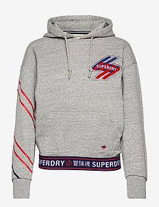 SPORTSTYLE GRAPHIC HOOD - hoodies - grey slub grindle