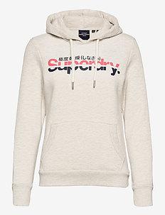 CL VINTAGE STRIPE HOOD - hoodies - queen marl