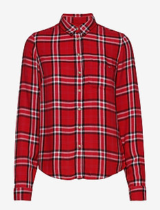 LIGHTWEIGHT CHECK SHIRT - långärmade skjortor - red check