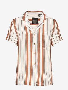 ARIZONA VINTAGE SHIRT - kortermede skjorter - orange stripe