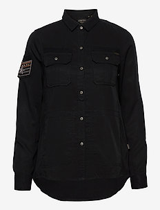 Military Pocket Shirt - overskjorter - black
