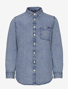 Denim Classic Shirt - jeansblouses - light indigo