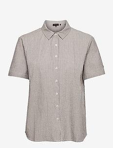STUDIOS SS SHIRT - short-sleeved shirts - navy stripe