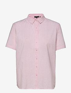 STUDIOS SS SHIRT - short-sleeved shirts - pink stripe